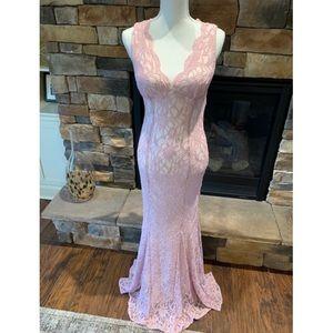 Pink Sparkle Lace Dress